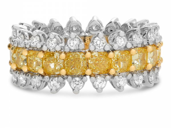 Two Tone Diamond Eternity Ring by Roman + Jules