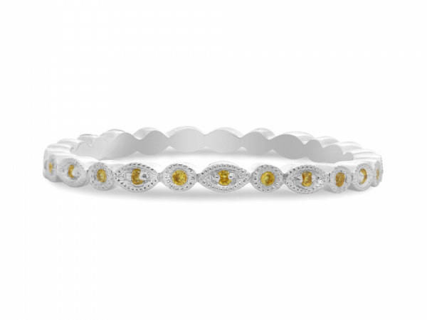 Marquise & Dot Yellow Diamond Band by Roman + Jules